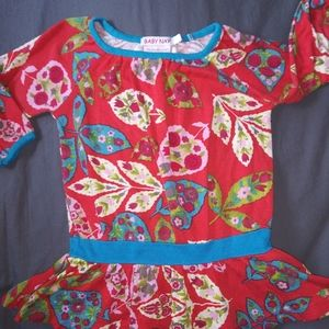 Girls Baby Nay red flower top sz 4T
